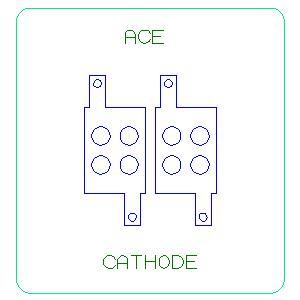 Cathode steel rule die
