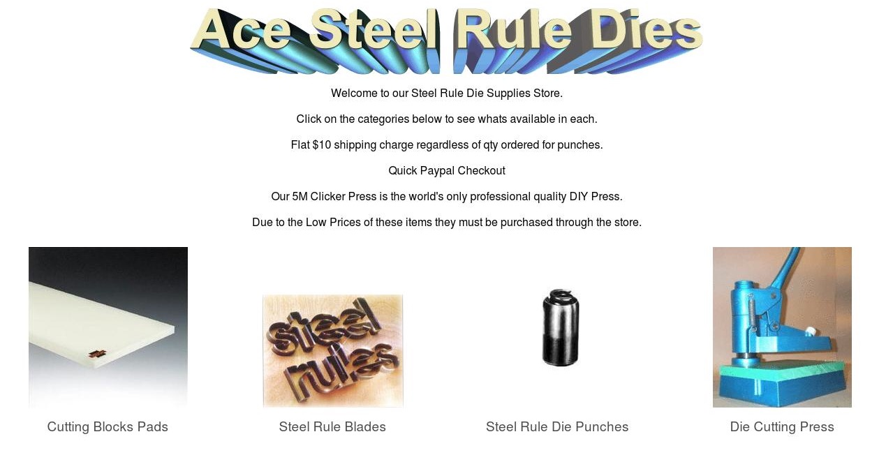 Steel Rule Die Making supplies, cutting punches, cutting rule, clicker press